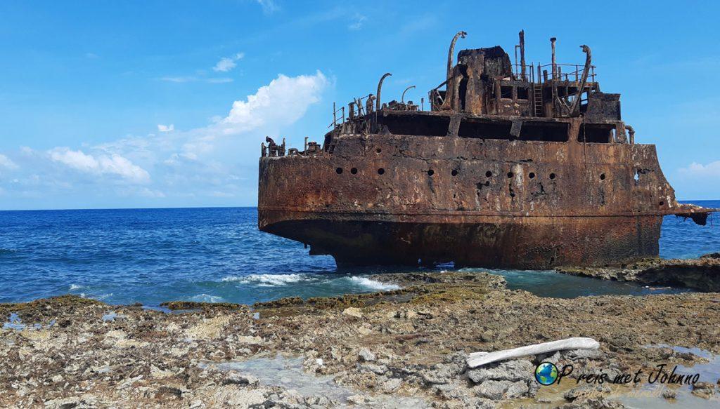 Scheepswrak op Klein Curaçao.
