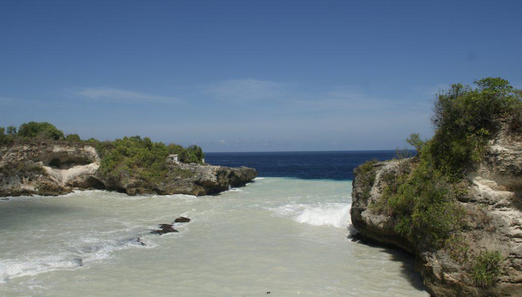 Blue lagoon met het troubele water