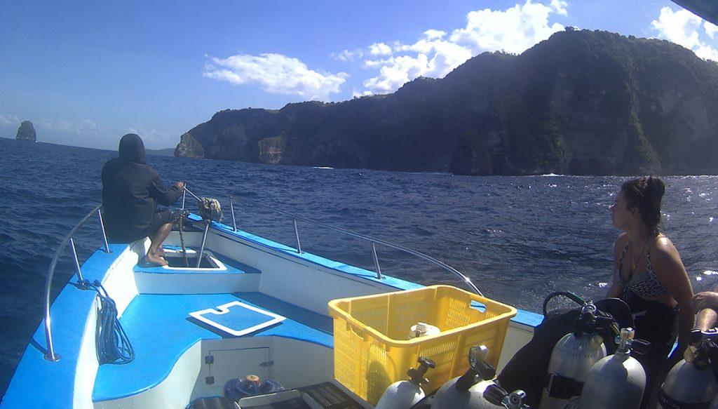 De boottocht naar Manta point