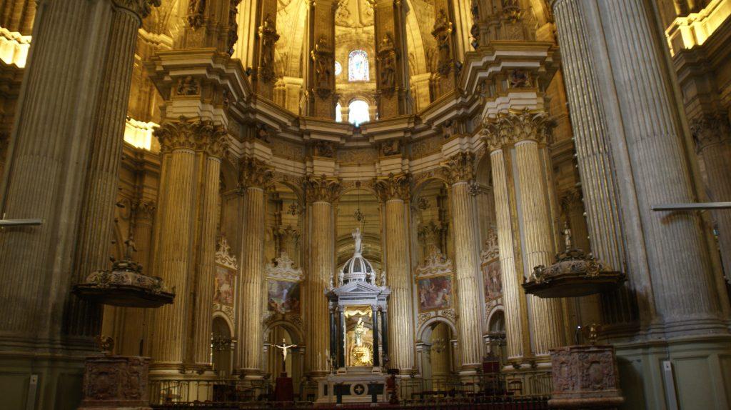 Binnenkant van de kathedraal van Malaga