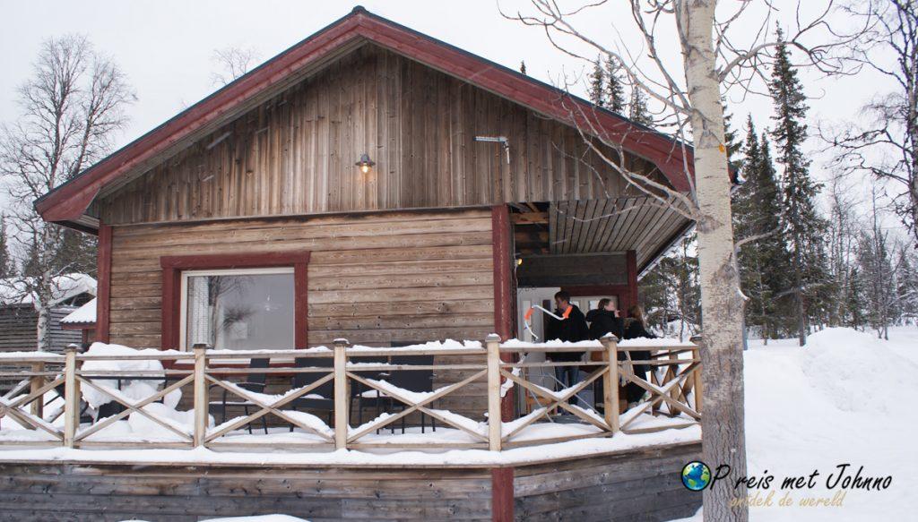 ons huisje in Zweeds lapland