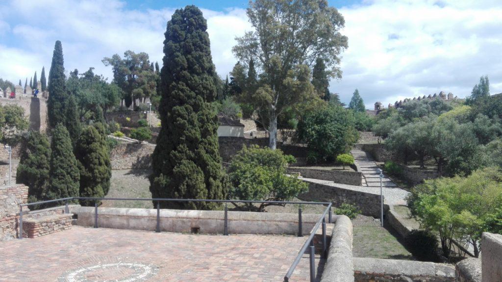 De tuin van Castillo de Gibralfaro