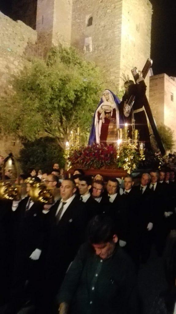 Een van de processies in Malaga