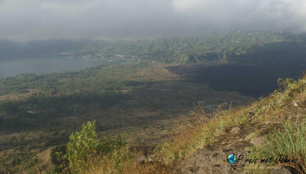 Het uitzicht tijdens de Mount Batur beklimmen