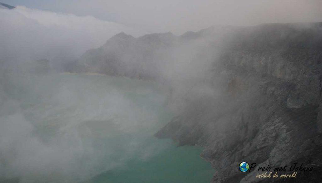 Het kratermeer van Kawah Ijen