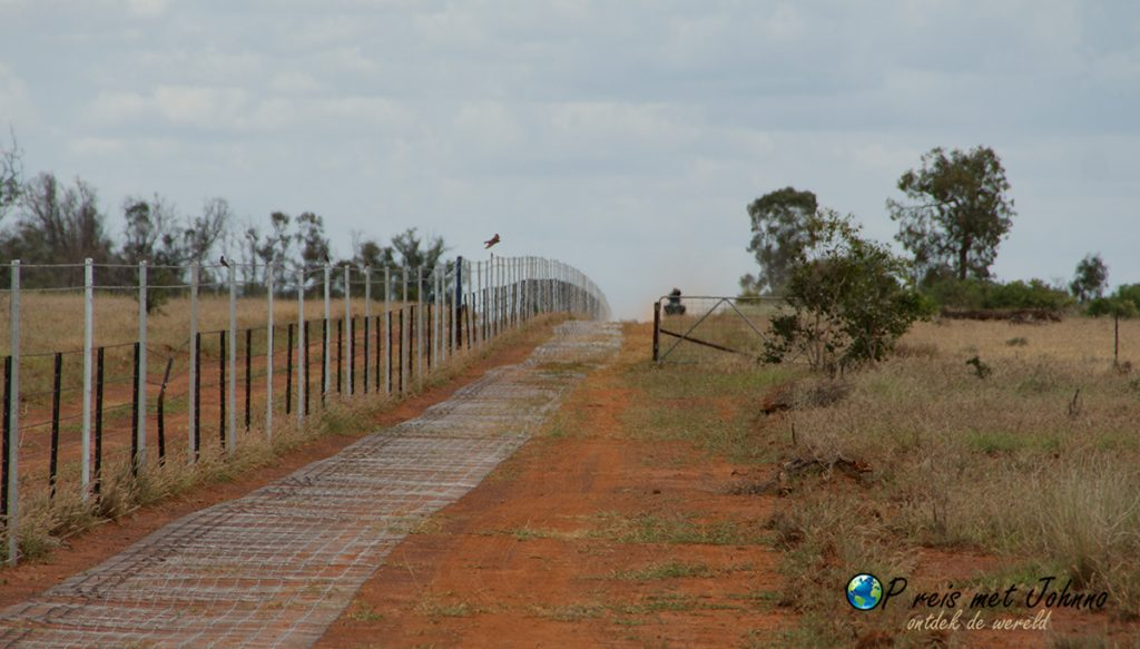 Het hek ligt alvast klaar! zie hier een van de werkzaamheden tijdens mijn farmwork in Australië