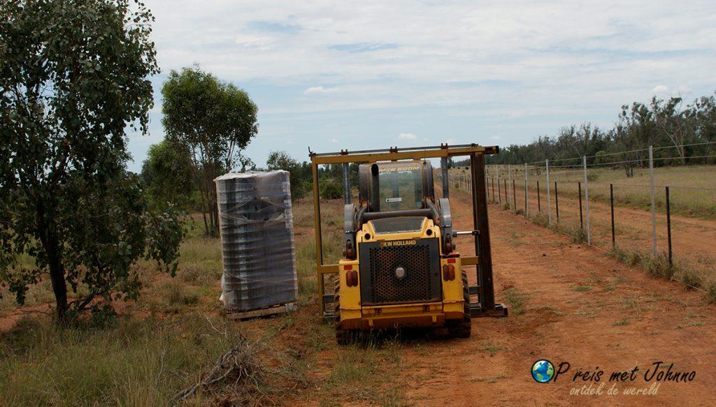 Dar staat die bijne, gemaakt tijdens het farmwork in australie.