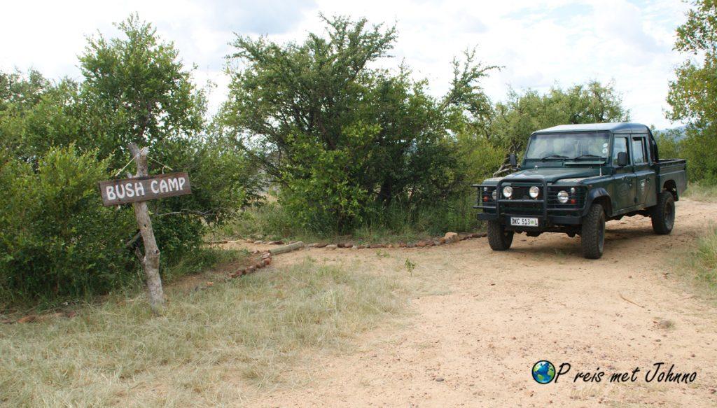 Het bushcamp voor de vrijwilligers in Zuid-Afrika