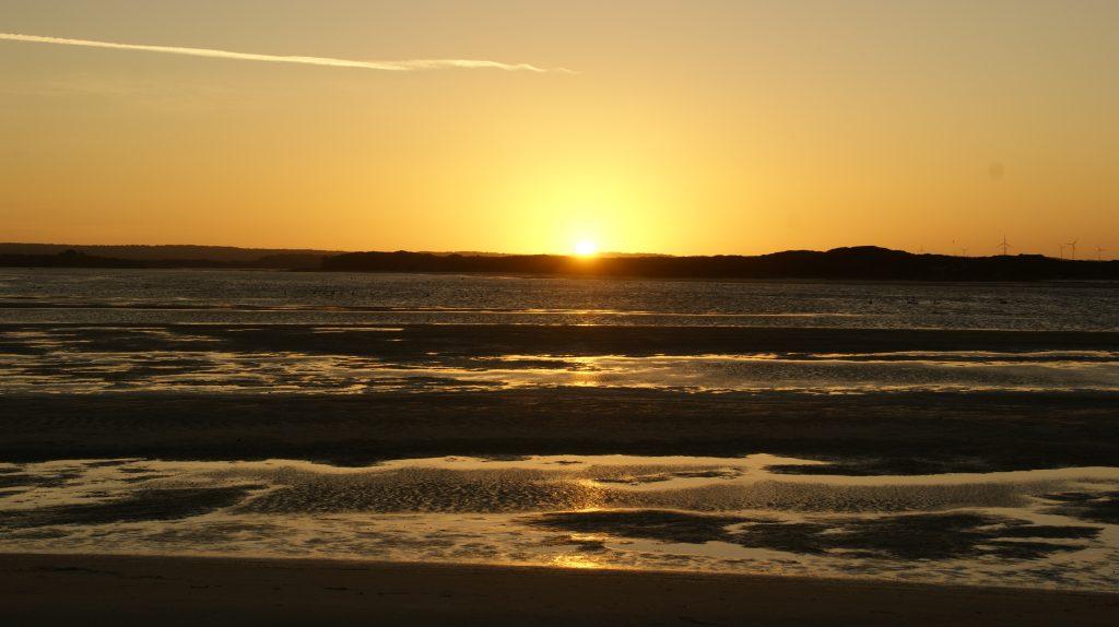 Zonsondergang bij the ring of fire op Tasmanië