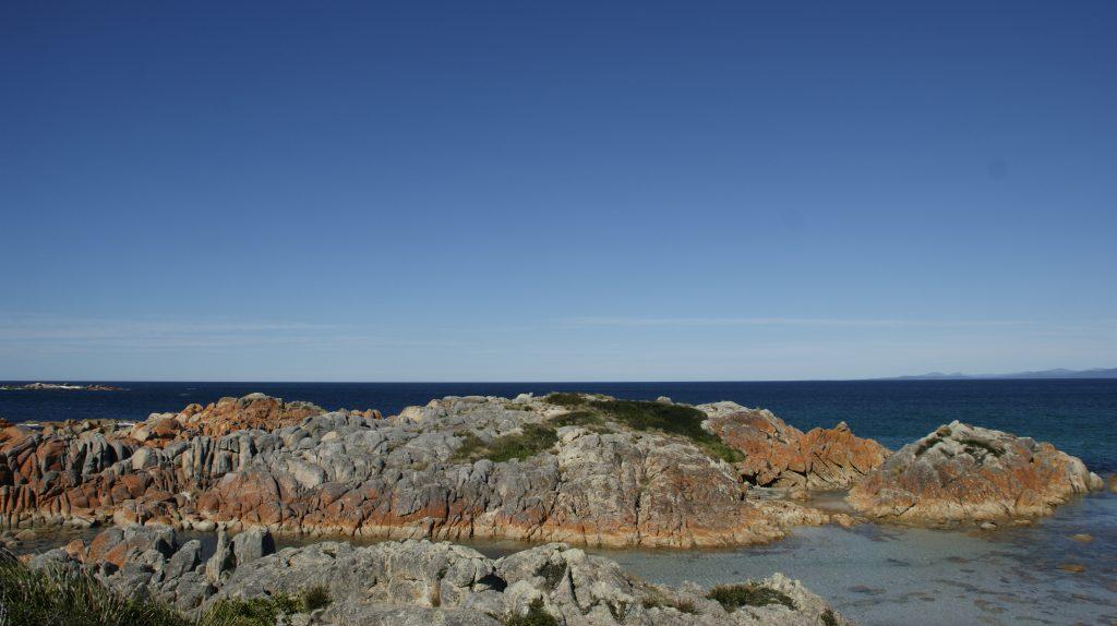 De rode stenen. Een de hoogtepunten op Tasmanië