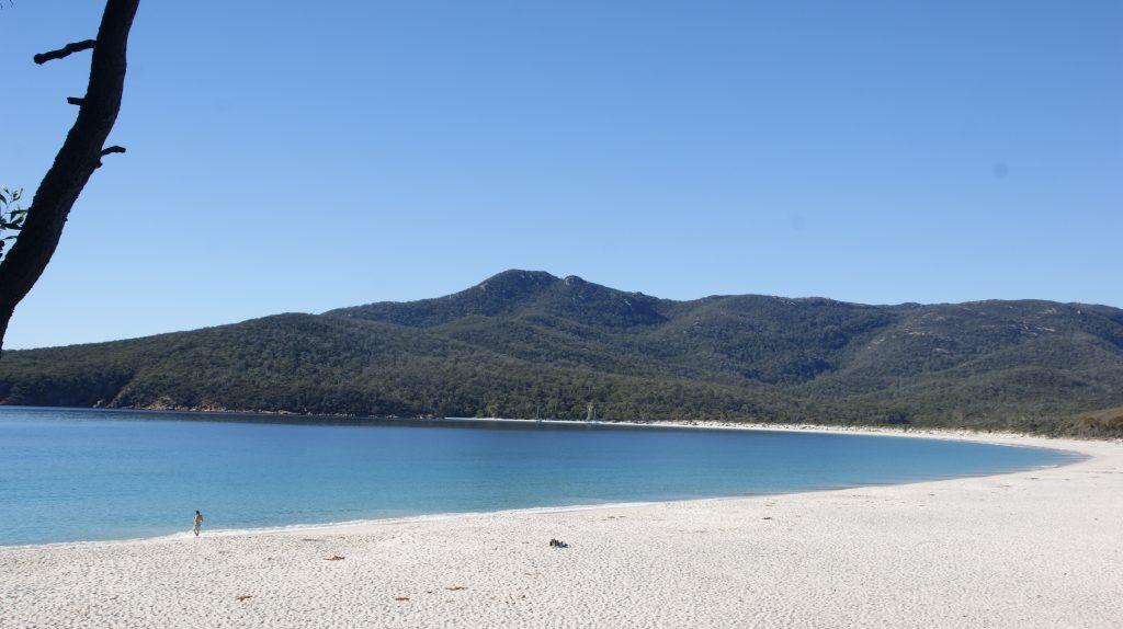 Het mooiste strand van Tasmanië. Wineglass bay