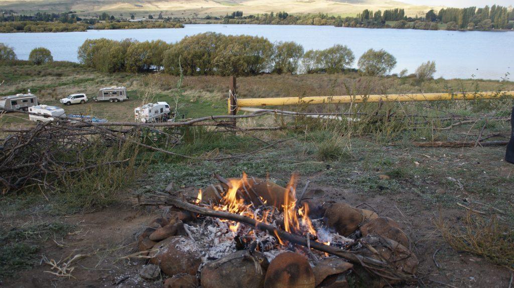 Een van de vele prachtige campingplekmen op Tasmanië