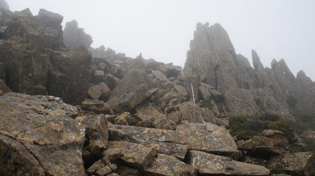 Het laatste gedeelte van de hike op Cradle mountain
