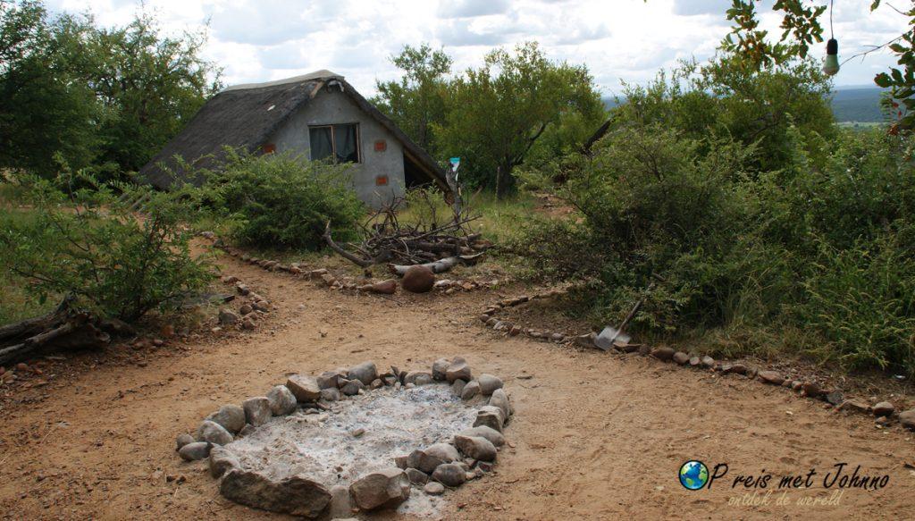 Het kamp voor de vrijwilligers in Zuid-Afrika bij TRansfrontier Afrika