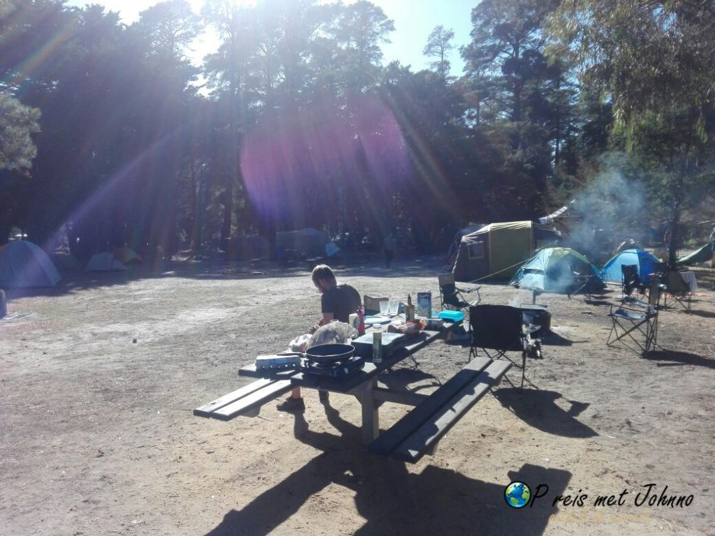 De camping in halls gap in het grampians national park