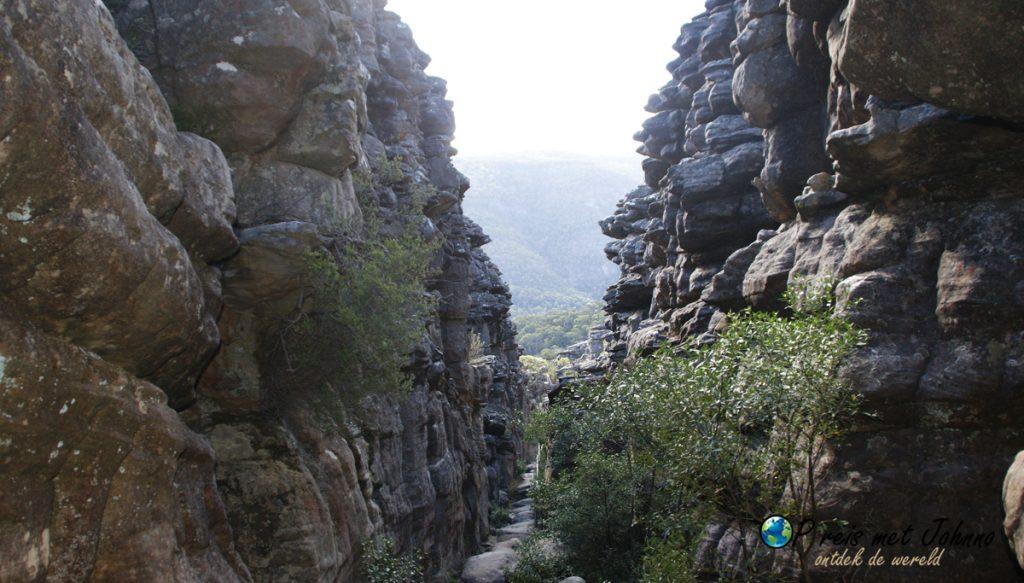de hike van de pinnacle in grampians national park