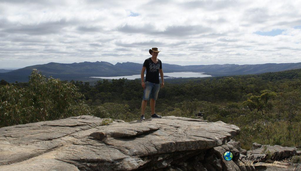 uitzicht vanuit reeds lookout in de grampians national park