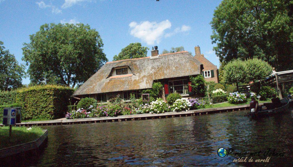 Een van de huizen in Giethoorn